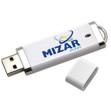 USB stick personalizat din plastic alb