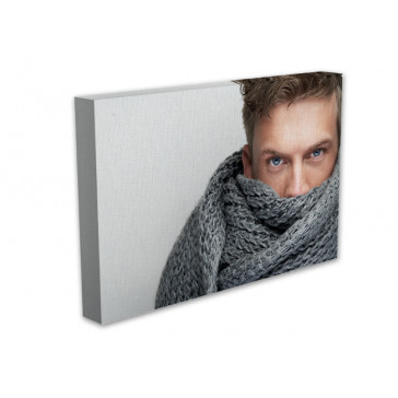 Covered by scarf