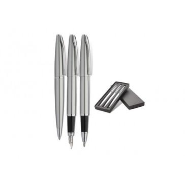 Set  AERO - 3 instrumente de scris din metal, personalizat