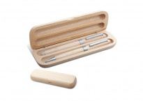 Set  bio NAWO - 2 instrumente de scris din lemn, in cutie, personalizat