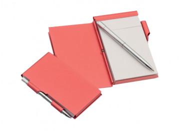 Set bloc-notes cu pix, din aluminiu, personalizat
